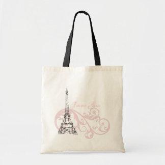 Eiffel Tower Paris Pink Bags