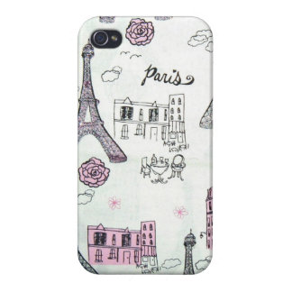 Eiffel Tower Paris Pink Case For iPhone 4