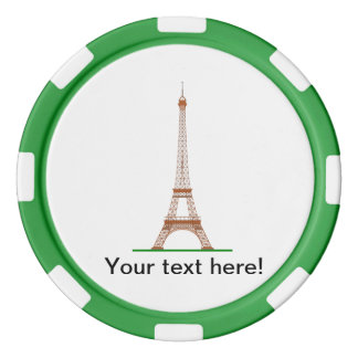 Eiffel Tower, Paris Poker Chips Set