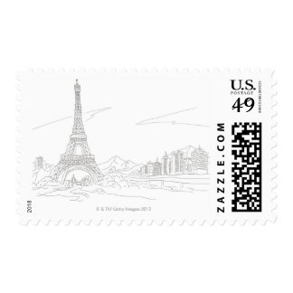 Eiffel Tower, Paris Postage