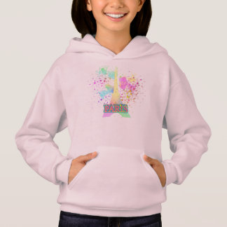 Eiffel Tower Paris Rainbow Paint Splat Explosion Hoodie