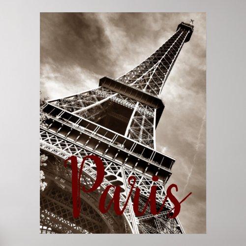 Eiffel Tower Paris Sepia Vintage