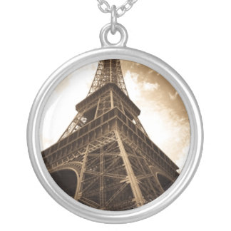 Eiffel tower Paris Silver Plated Necklace