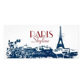 Eiffel Tower Paris Skyline Artsy Custom Rack Cards