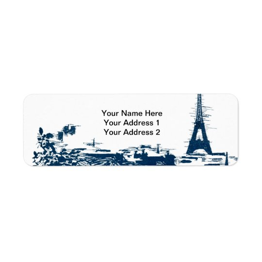 Eiffel Tower Paris Skyline Custom Address Labels