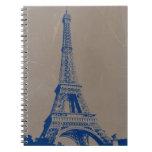 Eiffel Tower Paris Spiral Note Book