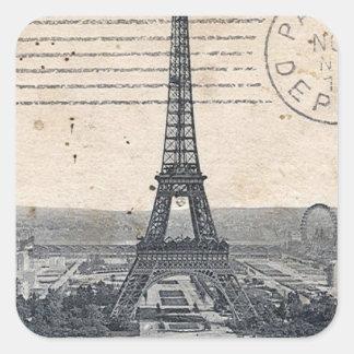 Eiffel Tower Paris Square Sticker