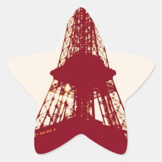 Eiffel Tower Paris Star Sticker