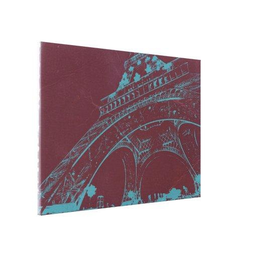 Eiffel Tower Paris Stretched Canvas Prints