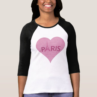 Eiffel Tower Paris Stylish Pink Heart For Her T-Shirt