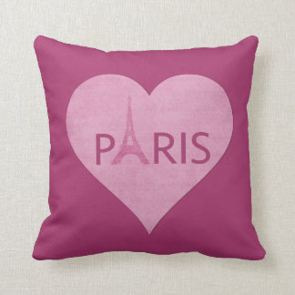 Eiffel Tower Paris Stylish Pink Heart Music Pillow