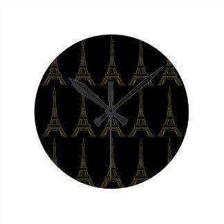 Eiffel Tower Paris Theme Wall Clock