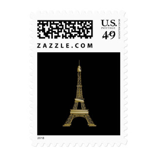 Eiffel Tower Paris Themed Postage Stamps