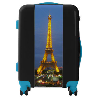 Eiffel Tower Paris twilight Luggage