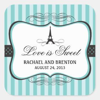 Eiffel Tower Paris Wedding Stickers