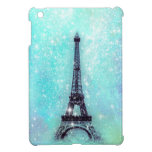 Eiffel Tower Pastel Turquoise iPad Mini Cases