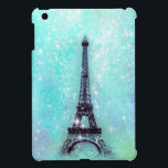 "Eiffel Tower Pastel Turquoise iPad Mini Cover<br><div class=""desc"">Design by OS. Copyright &#169; 2012 Organic Saturation</div>"
