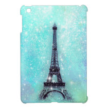 Eiffel Tower Pastel Turquoise iPad Mini Cover