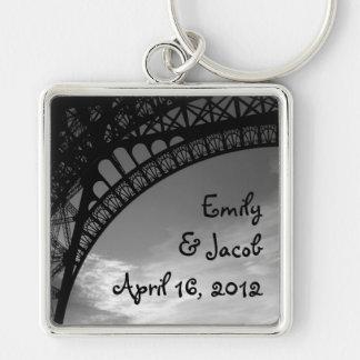 Eiffel Tower Personalized Bride & Groom Keychain