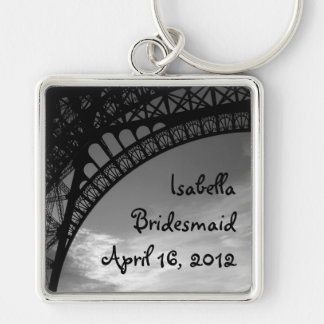 Eiffel Tower Personalized Bridesmaid Keychain