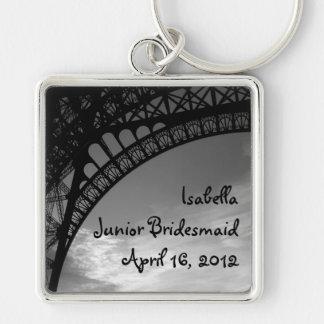 Eiffel Tower Personalized Junior Bridesmaid Keychain