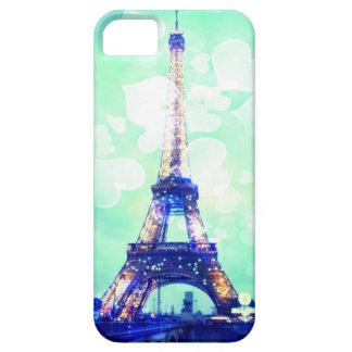 Eiffel Tower Phone Case, Mint Green and Azure Blue iPhone SE/5/5s Case