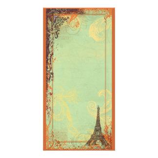 Eiffel Tower Photo Card Invitation or Menu