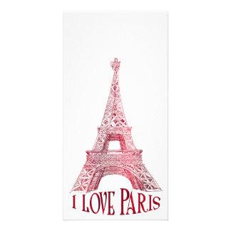 Eiffel tower customized photo card