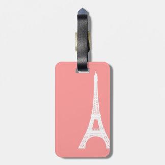 Eiffel Tower Pink Bag Tag
