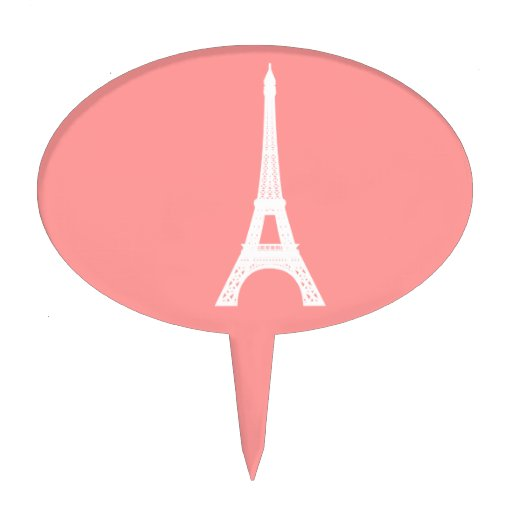 Eiffel Tower Pink Cake Topper