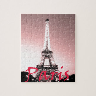 Eiffel Tower Pink Jigsaw Puzzle