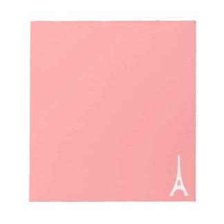 Eiffel Tower Pink Notepads