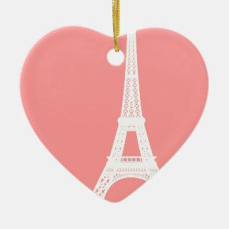 Eiffel Tower Pink Ornaments