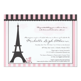 Eiffel Tower & Pink Poodle  Bridal Shower Custom Invites