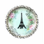 Eiffel Tower Pink Roses n Zebra Print Ornament