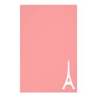 Eiffel Tower Pink Stationery Design