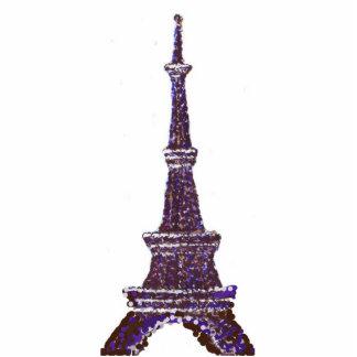 Eiffel Tower Pointillism Pin Brooch Cutout