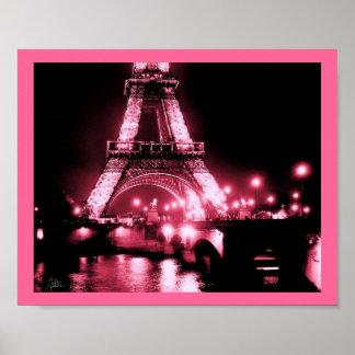 Eiffel Tower, Pont de Lena [Print] - Double Pink,