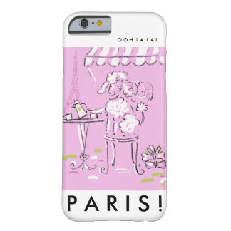 Eiffel tower poodle in Paris. Barely There iPhone 6 Case