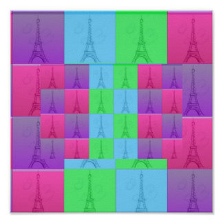 Eiffel Tower Pop Art, Eiffel Tower Pop Art Print