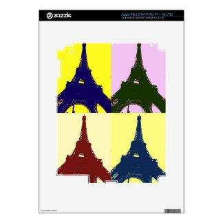 Eiffel tower pop art iPad 3 skin