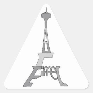Eiffel Tower Pop Art Triangle Sticker