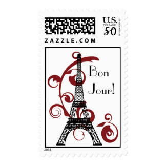 Eiffel Tower Postage Stamp