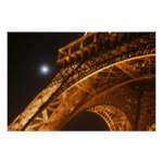 Eiffel Tower and Moon Poster