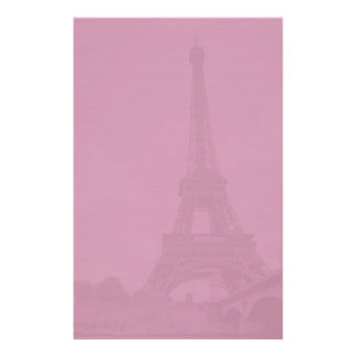 Eiffel Tower Purple Stationery Paper
