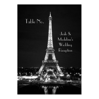 Eiffel Tower Reception Table cards Business Card Template