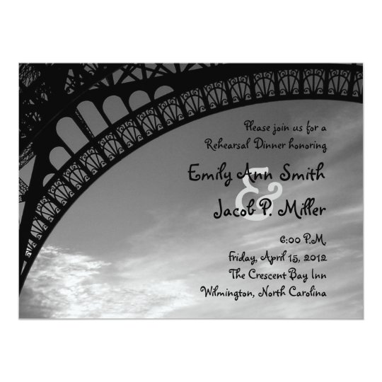 Eiffel Tower Rehearsal Dinner Invitations