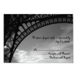 "Eiffel Tower Reply Cards 3.5"" X 5"" Invitation Card"