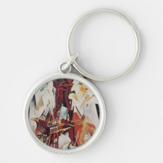 Eiffel Tower - Robert Delaunay Silver-Colored Round Keychain