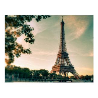 Eiffel Tower Romantic Paris City of Love Travel Postcard